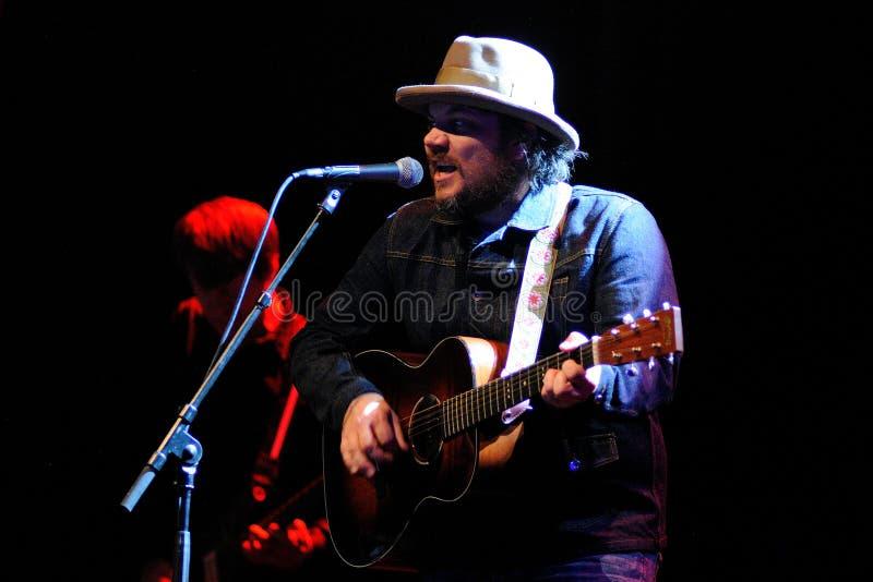 Wilco musikbandet utför på Gran Teatre del Liceu arkivfoton