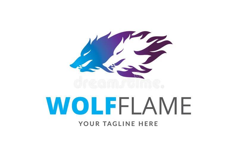 Wilczy płomienia loga projekta szablonu wektor zdjęcia royalty free
