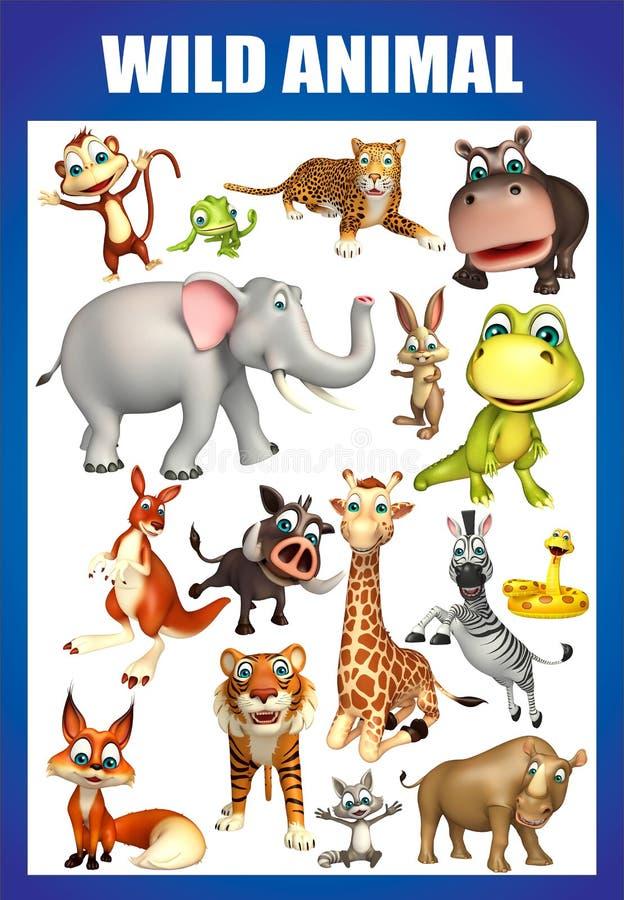 wild animal chart royalty free illustration