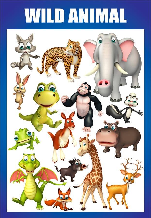 wild animal chart stock illustration