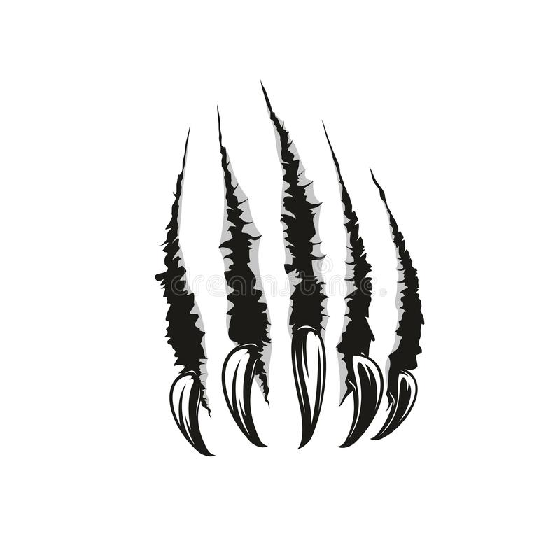 Free Wild Animal Claw Vector Scratches Stock Image - 126590461