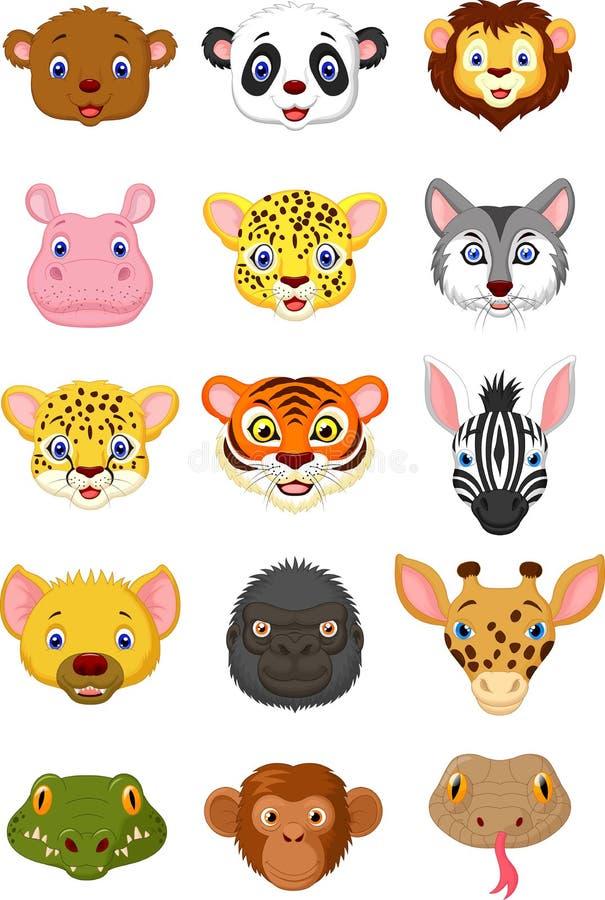 Free Wild Animal Head Cartoon Collection 1 Stock Photography - 45670242