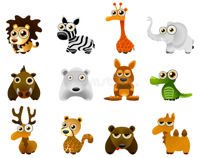 Wild animal vector stock image