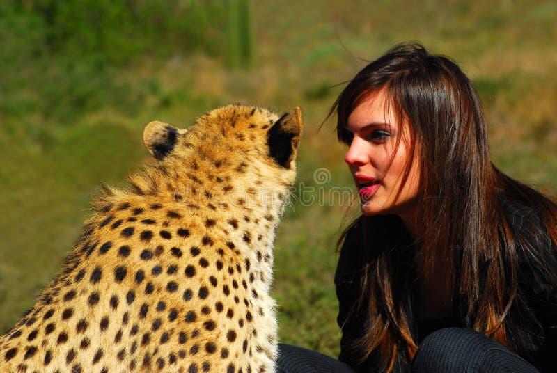 Wild animal whisperer royalty free stock photography