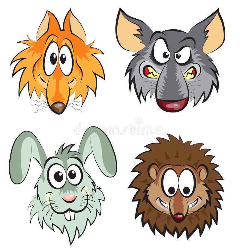 Download Wild animals stock vector. Illustration of isolated, cute - 26100086