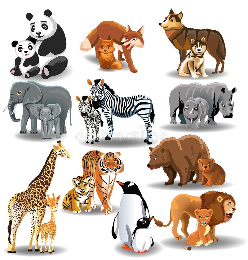 Free Wild Animals And Their Babies Royalty Free Stock Image - 101256196