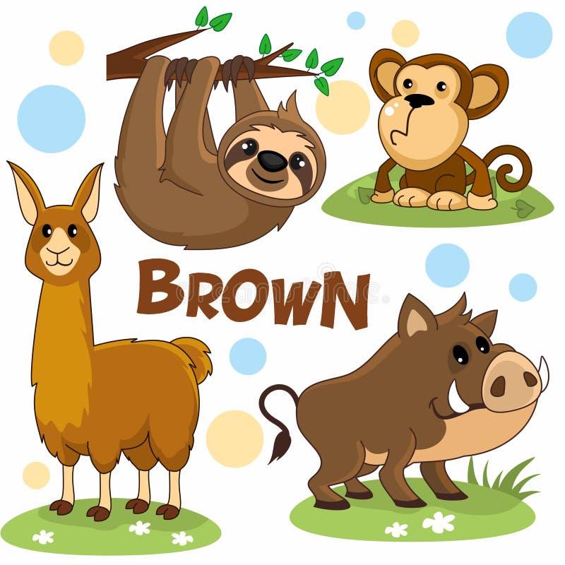 Wild animals are brown4 stock illustration