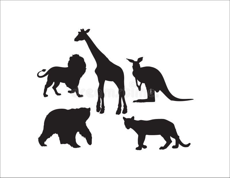 Wild Animals Collection stock illustration