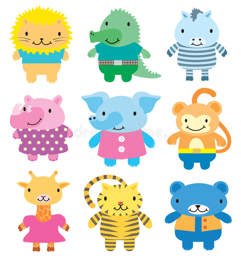 Download Wild animals icon set stock vector. Illustration of cartoon - 17845727