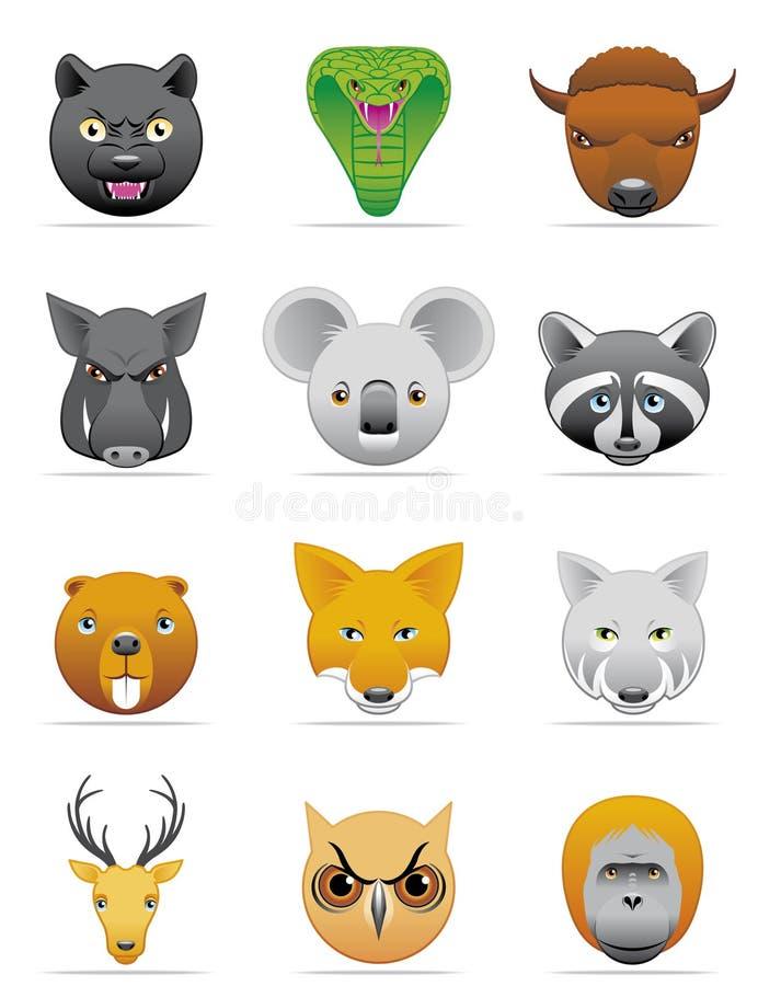 Download Wild animals icons stock vector. Image of deer, head, vector - 9811551