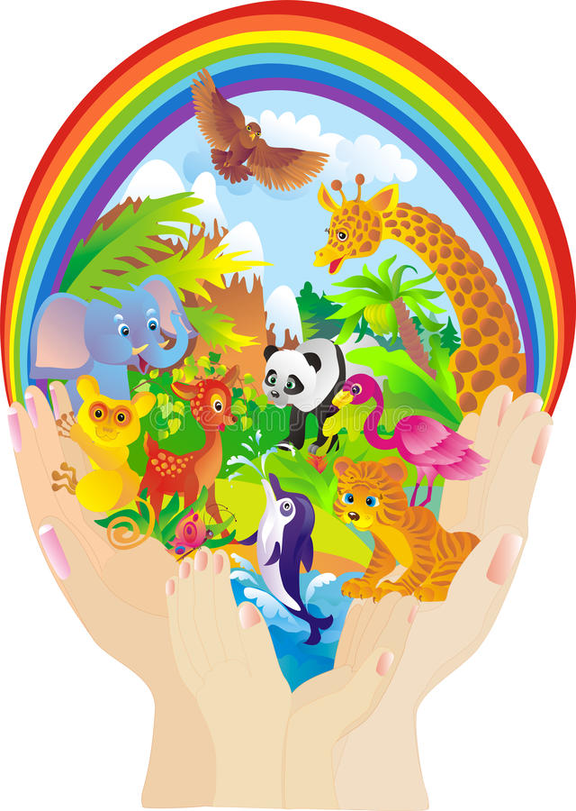 Download Wild Animals. Protection Of Nature. Vector Stock Vector - Image: 11854615