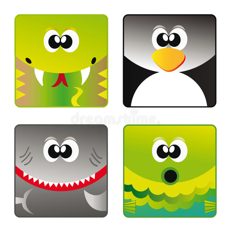 Download Wild Animals - Set Icon 3 Royalty Free Stock Photography - Image: 21050727