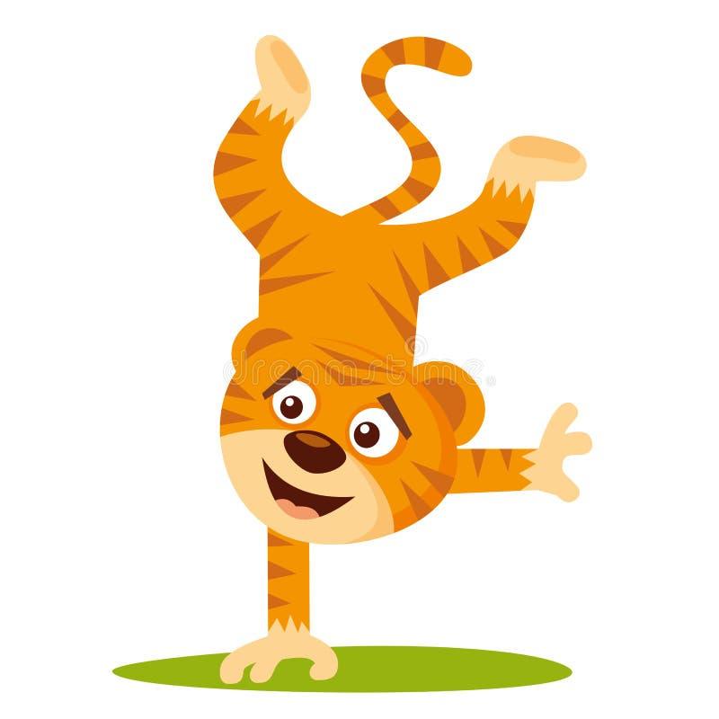 Wild animals. Tiger Wildlife Vector. Illustration isolated on white background royalty free illustration