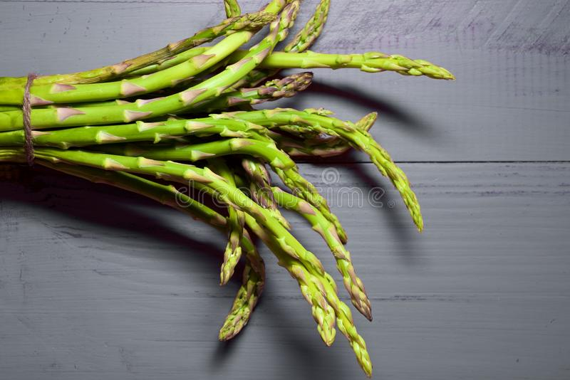 Wild asparagus close up royalty free stock photography