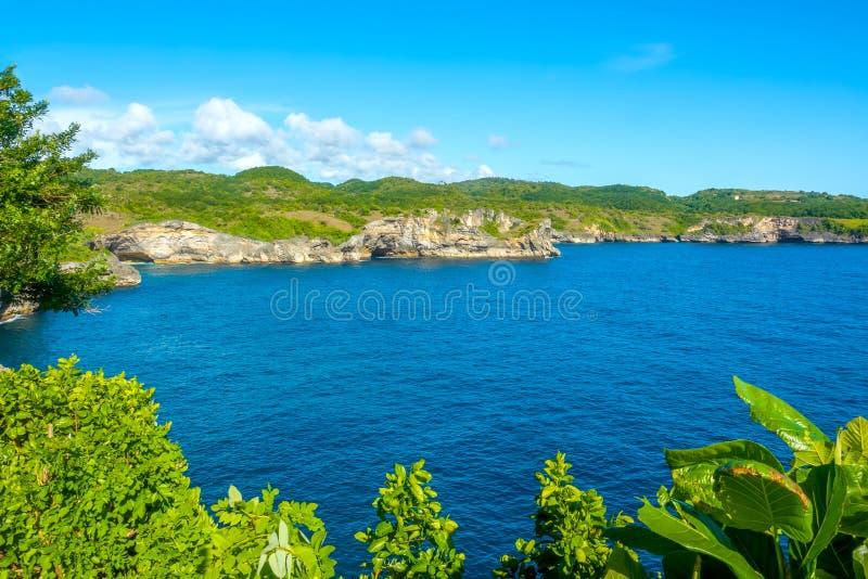 Wild Bay on a Tropical Island stock photo