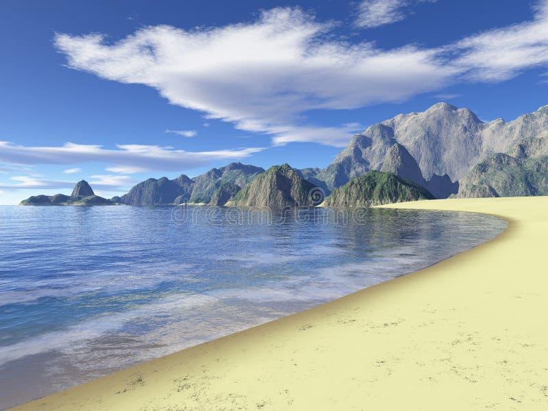 Wild beach royalty free illustration
