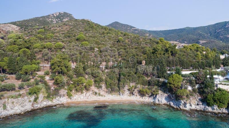 Wild beach, Greece stock photo