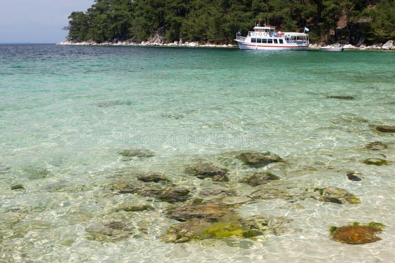 Wild beach near Thassos. Photo taken in Greece royalty free stock photography