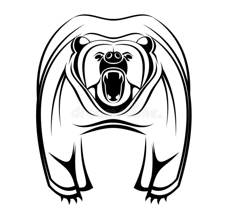 Wild bear stock image