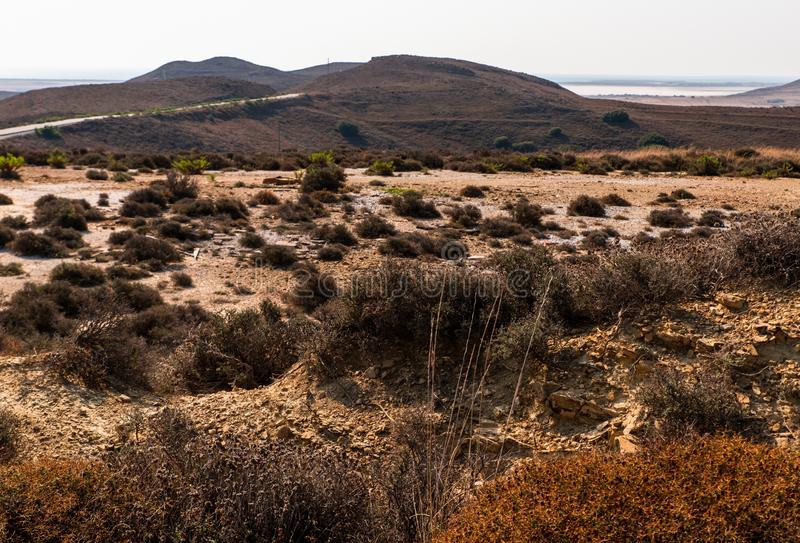 Inland landscape in island Limnos. royalty free stock photography