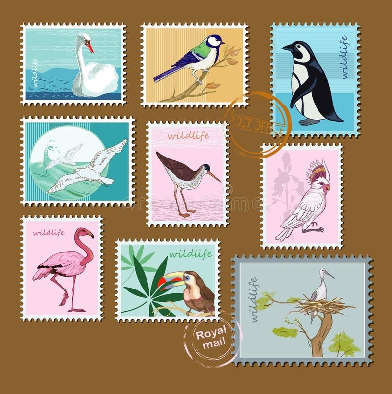 Wild birds stock illustration