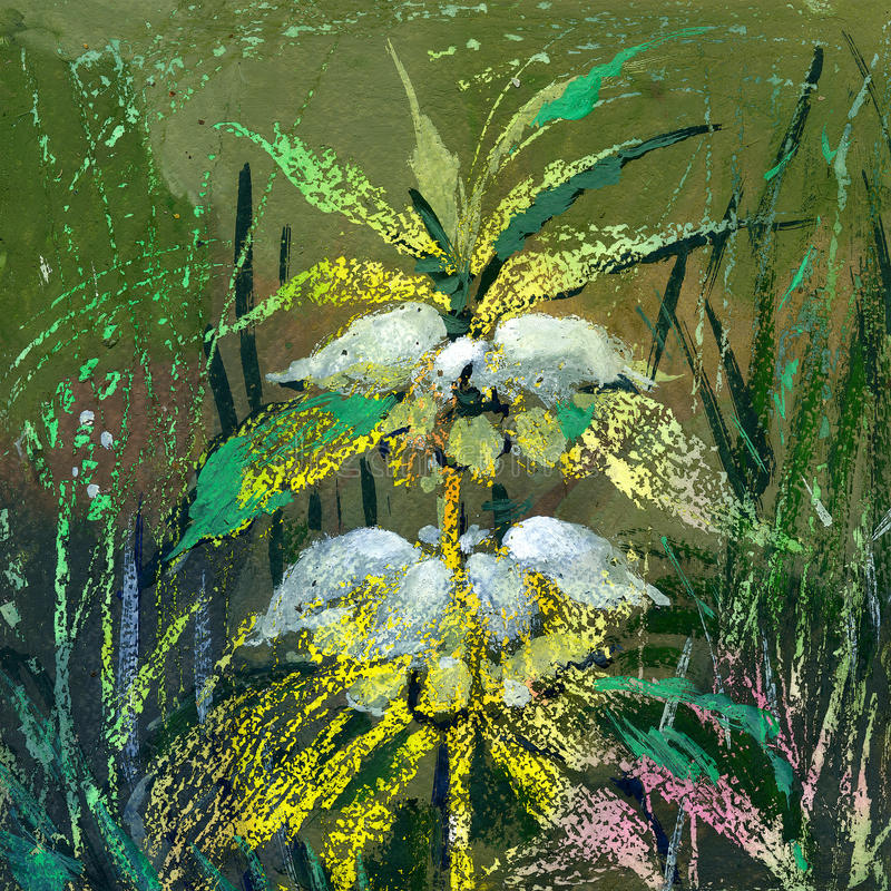 wild blomma stock illustrationer