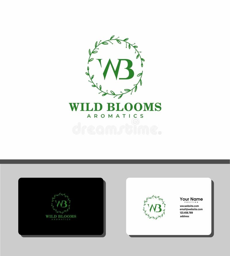 Wild blooms logo royalty free stock photography