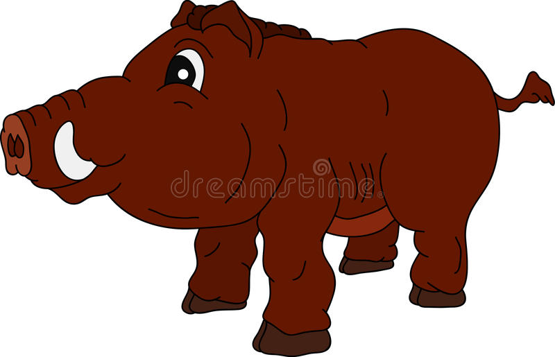 Download Wild boar stock vector. Image of brown, color, wild, isolated - 15301487