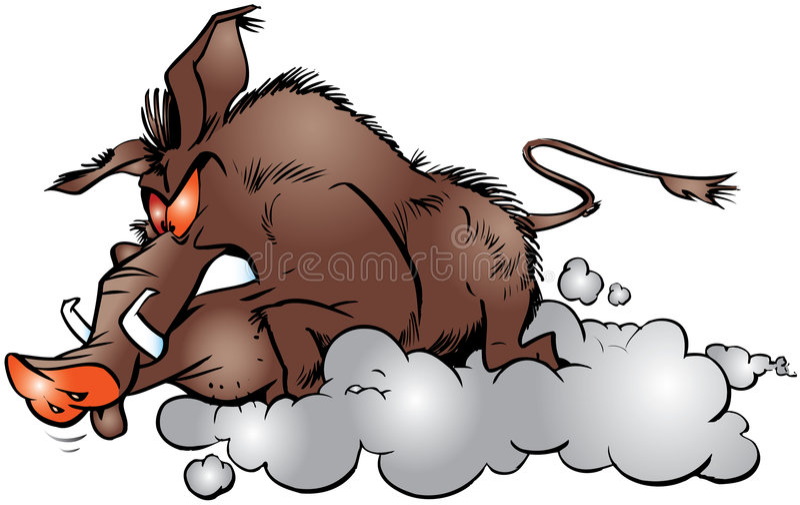 Download Wild boar stock illustration. Image of wild, cruel, beast - 8649824