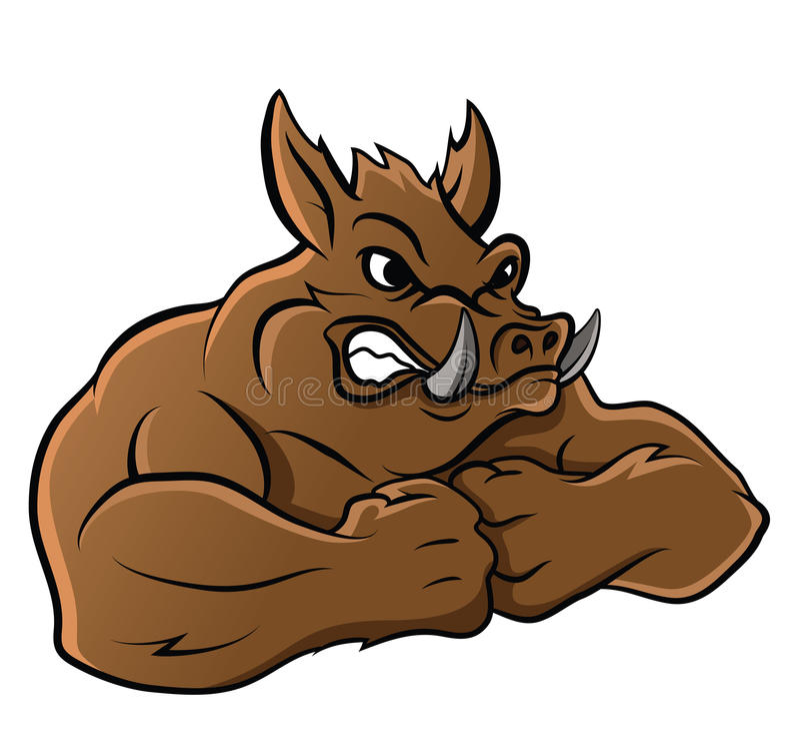 Wild Boar. Eps 10 illustration Design vector illustration