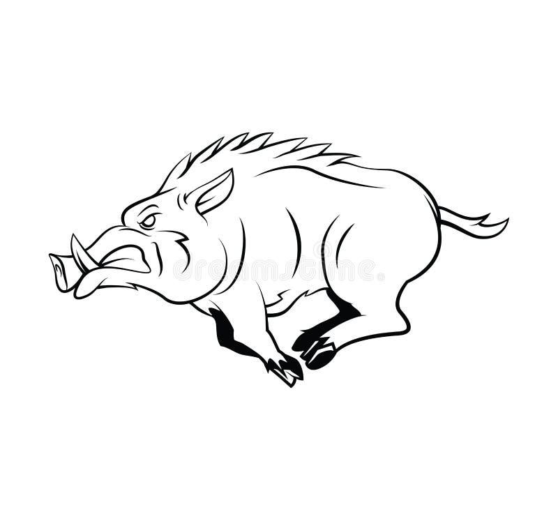 Wild Boar. Eps 10 illustration Design stock illustration