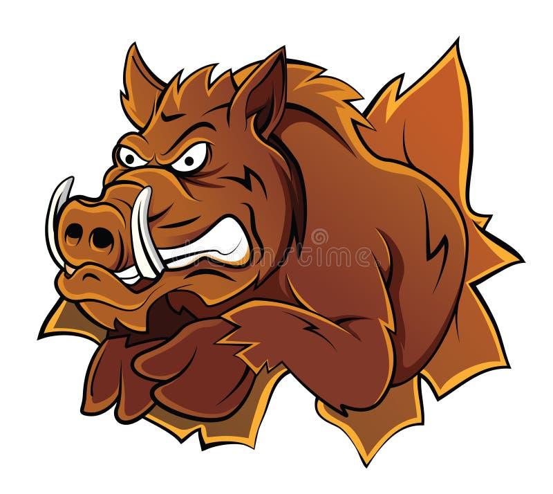 Wild Boar Head. Eps 10 illustration Design stock illustration