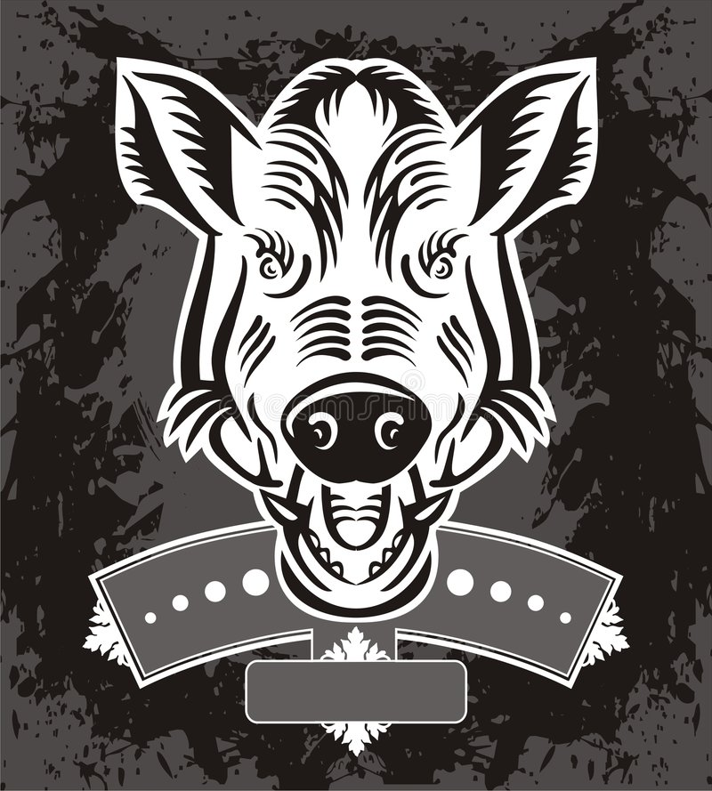 Download Wild Boar Head Logo Stock Photography - Image: 3173422