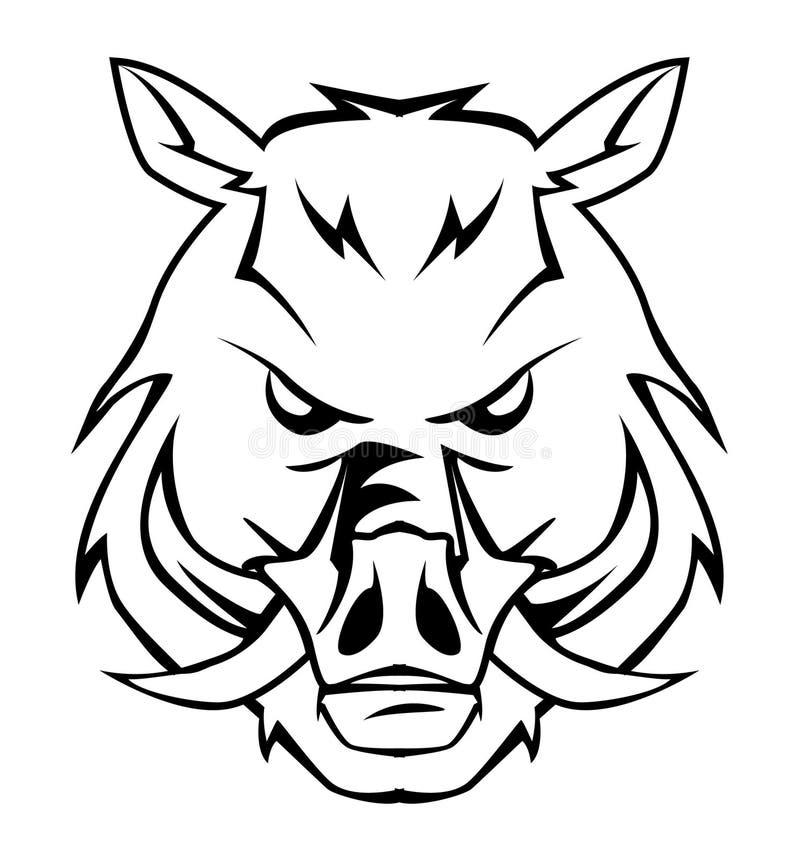 Wild boar. Illustrator desain .eps 10 vector illustration