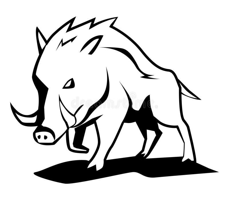 Wild boar. Illustrator desain . eps 10 vector illustration