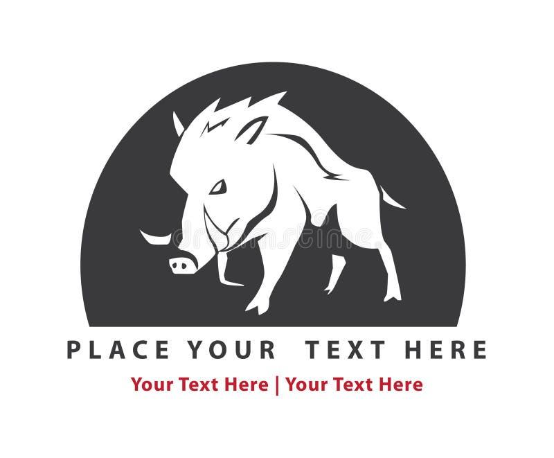 Wild boar sign. Illustrator desain .eps 10 stock illustration