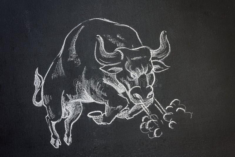 Wild bull royalty free illustration