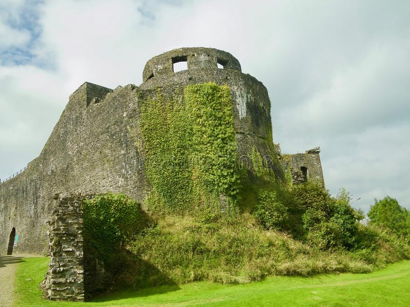 The wild castle. Dinefwr Castle near Llandeilo Carmarthenshire Wales united Kingdom stock image