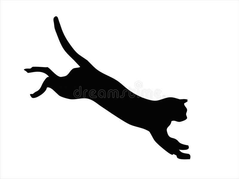 Wild cat jumping vector illustration