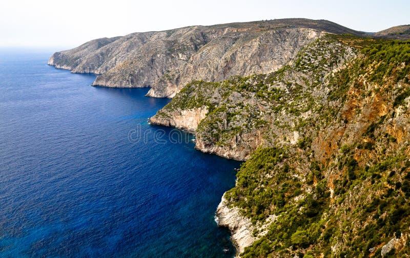 Wild Cliffs Of The Western Zakynthos. Greece Stock Photography