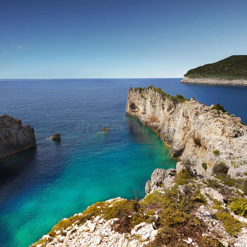 Wild Coast - Paxos Island, Travel Greece royalty free stock photography