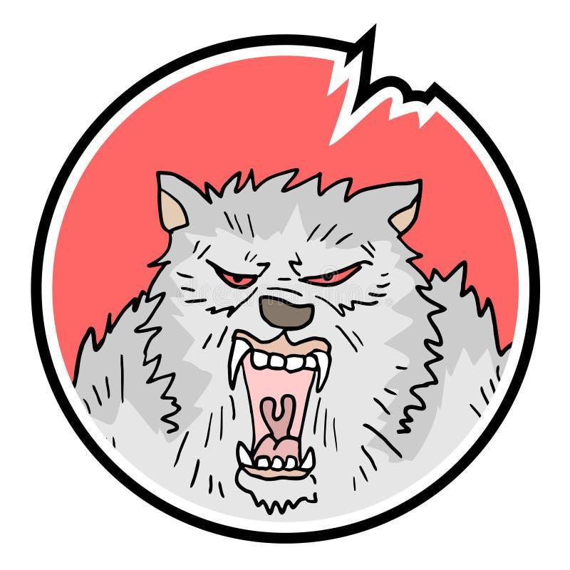 Wild dierlijk symbool royalty-vrije illustratie