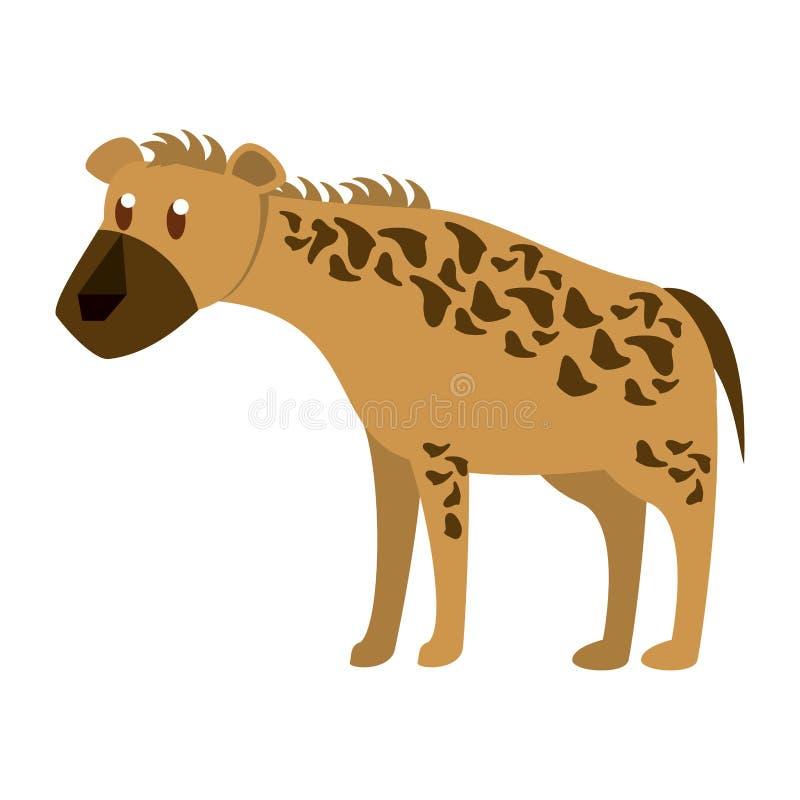 wild djur hyena vektor illustrationer