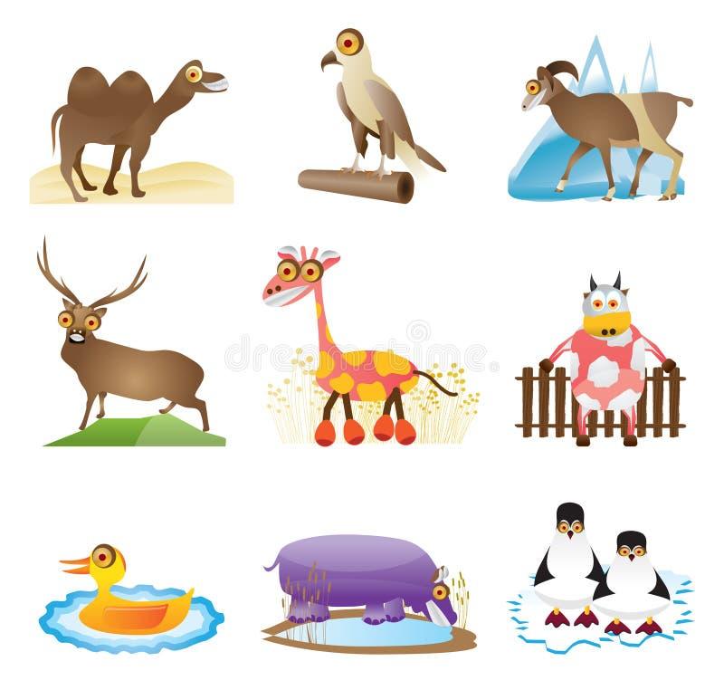 wild djur vektor royaltyfri illustrationer