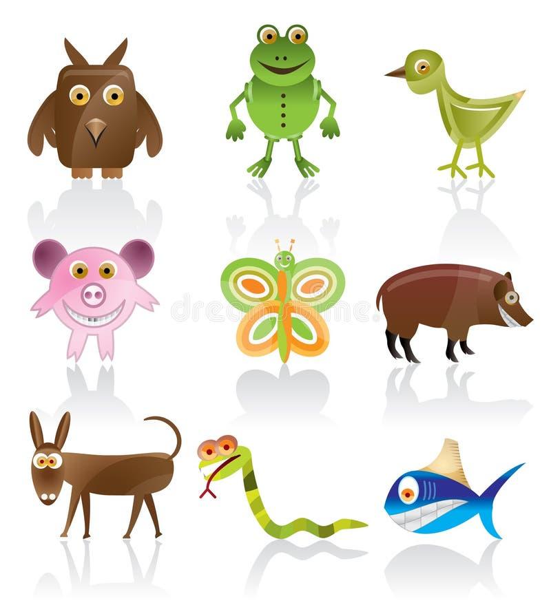 wild djura vektorer vektor illustrationer