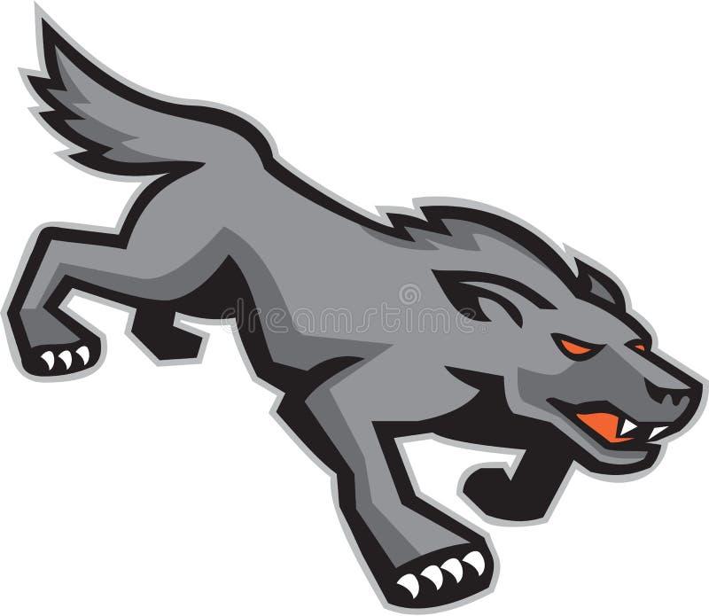 Wild Dog Wolf Stalking Retro