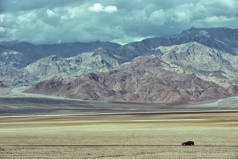 Wild drive at Death Valley royalty free stock image