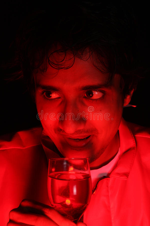 Wild Drunk Party Guy stock image