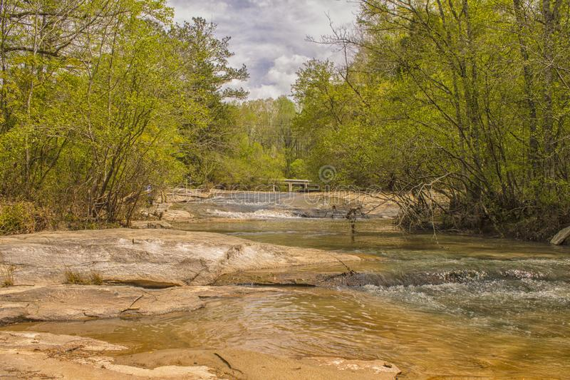 The Wild Flat Rock Creek. `The Wild Flat Rock Creek`, is taken at Cooper Creek Park, located in Columbus, Georgia stock photos