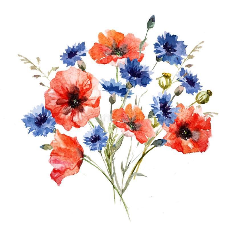 Wild flower bouquet stock illustration. Illustration of vintage ...